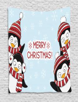 Cute Penguins Kids Tapestry
