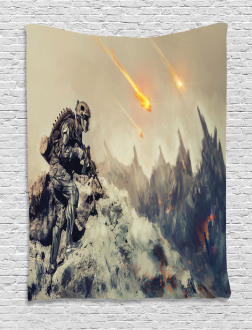 Technology Aliens Theme Tapestry