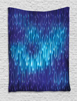 Cosmic Rain Effect Vivid Tapestry
