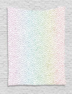 Rainbow Raindrops Tapestry