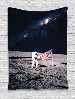 Milky Way American Flag Tapestry
