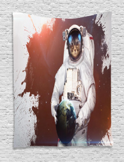 Astronaut Funny Design Tapestry