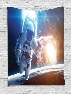 Galaxy Cosmonaut Space Tapestry
