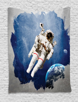 Planet Earth Art Outer Tapestry