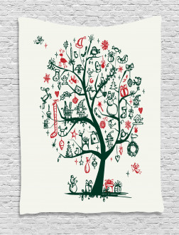 Tree Ornaments Gifts Tapestry
