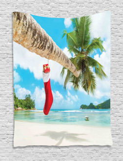 Beach Xmas Stockings Tapestry