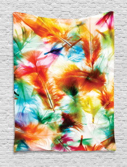 Puffy Dreamy Feathers Tapestry