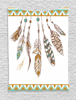 Boho Style Feather Old Tapestry