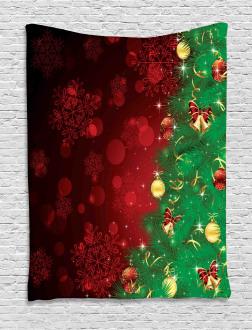 Jingle Bells Trees Tapestry