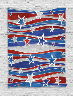Abstract USA Flag Tapestry