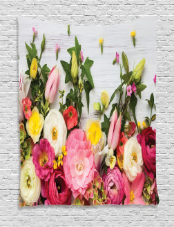 Rustic Home Rose Flowers Tapestry