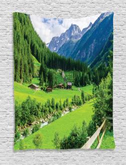 Alpine Scenery Pastoral Tapestry