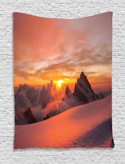 Sunrise in Swiss Alps Tapestry
