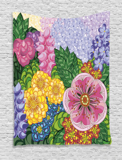 Nature Flowers Buds Tapestry
