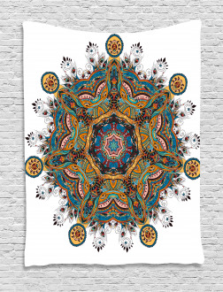 Tribal Paisley Boho Art Tapestry