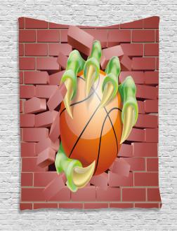 Basketball Cartoon Tapestry