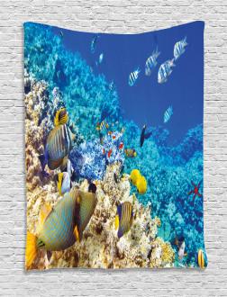 Aquatic Corals Tapestry