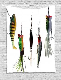 Fishing Baits Hobby Leisure Tapestry