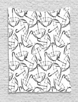 Sketch of Umbrellas Tapestry