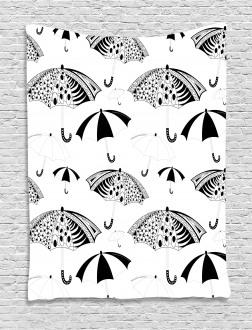 Ornate Umbrellas Tapestry