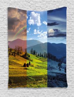 Rainbow Moon Sun Tapestry