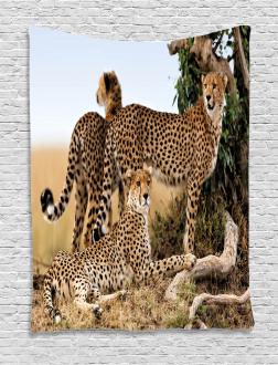 Safari Animal Cheetahs Tapestry