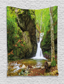 Spring Waterfall Nature Tapestry