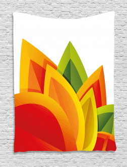Digital Autmun Leaf Tapestry