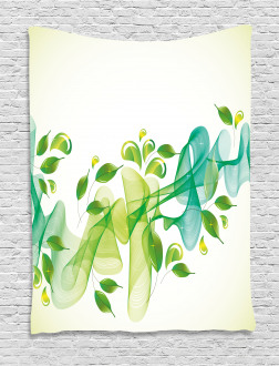 Abstract Floral Design Tapestry