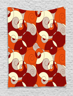 Spiral Abstract Stripes Tapestry