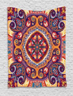 Arabic Flower Rug Tapestry