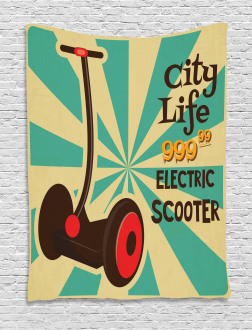 Pop Art Scooter Retro Tapestry