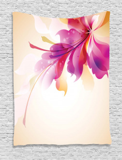 Floral Point and Leaf Tapestry