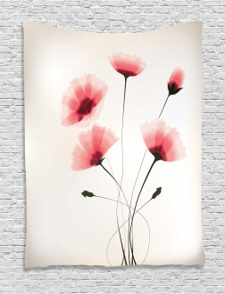 Romantic Buds Flowers Tapestry