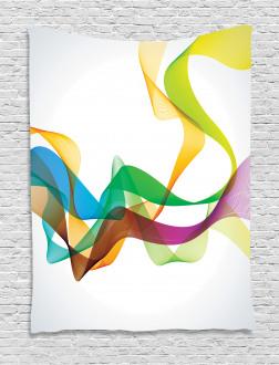 Wavy Ribbon Rainbow Tapestry