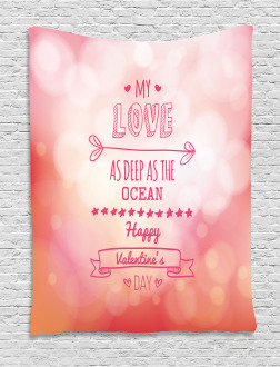 Pink Love Story Tapestry
