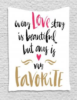 Romantic Quote Tapestry