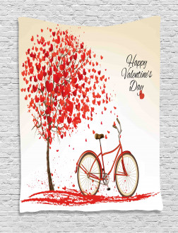 Heart Tree Bike Tapestry