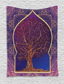 Retro Eastern Branches Tapestry