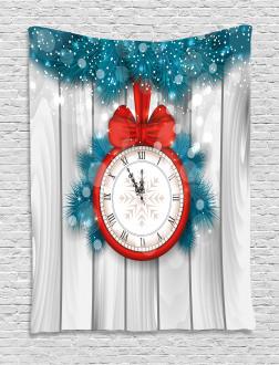 Midnight Clock Pine Tapestry