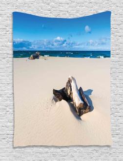 Sandy Sea Shore Digital Tapestry