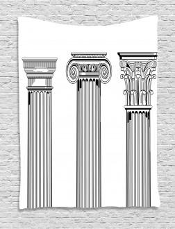 Antique Column Capitals Tapestry