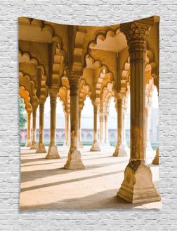 Agra Fort Pillar Tapestry