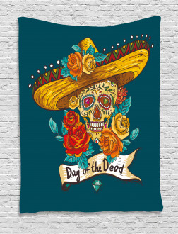 Mexican Festive Hat Tapestry