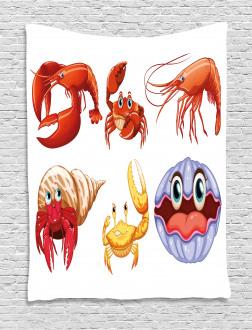 Crab Hermit Crab Lobster Tapestry