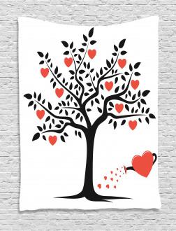 Romantic Love Tree Tapestry