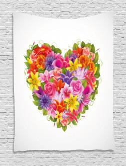 Flower Rose Leaf Tapestry