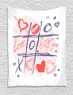 Xoxo Game with Lips Tapestry