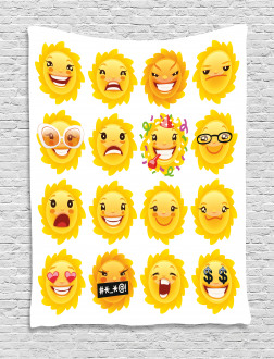 Smile Surprise Angry Mood Tapestry