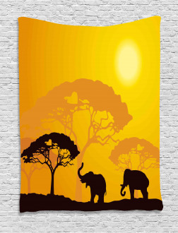 Africa Abstract Wildlife Tapestry